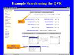 example search using the qvr45