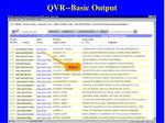 qvr basic output