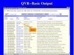 qvr basic output48