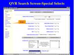 qvr search screen special selects