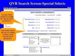 qvr search screen special selects33
