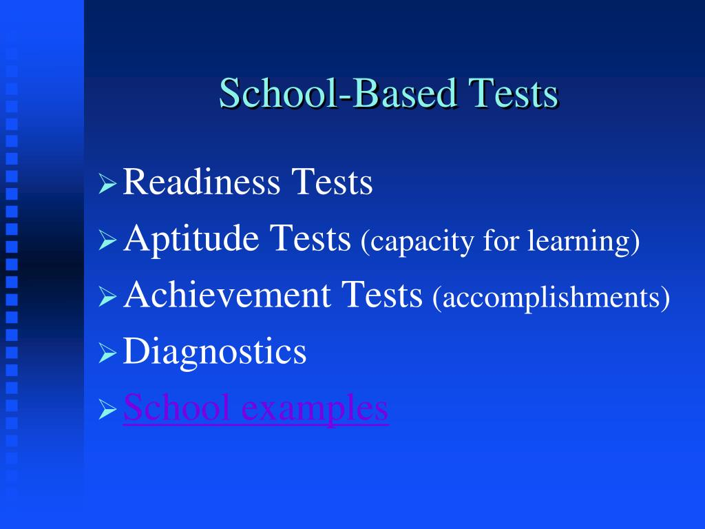 school based tests l.