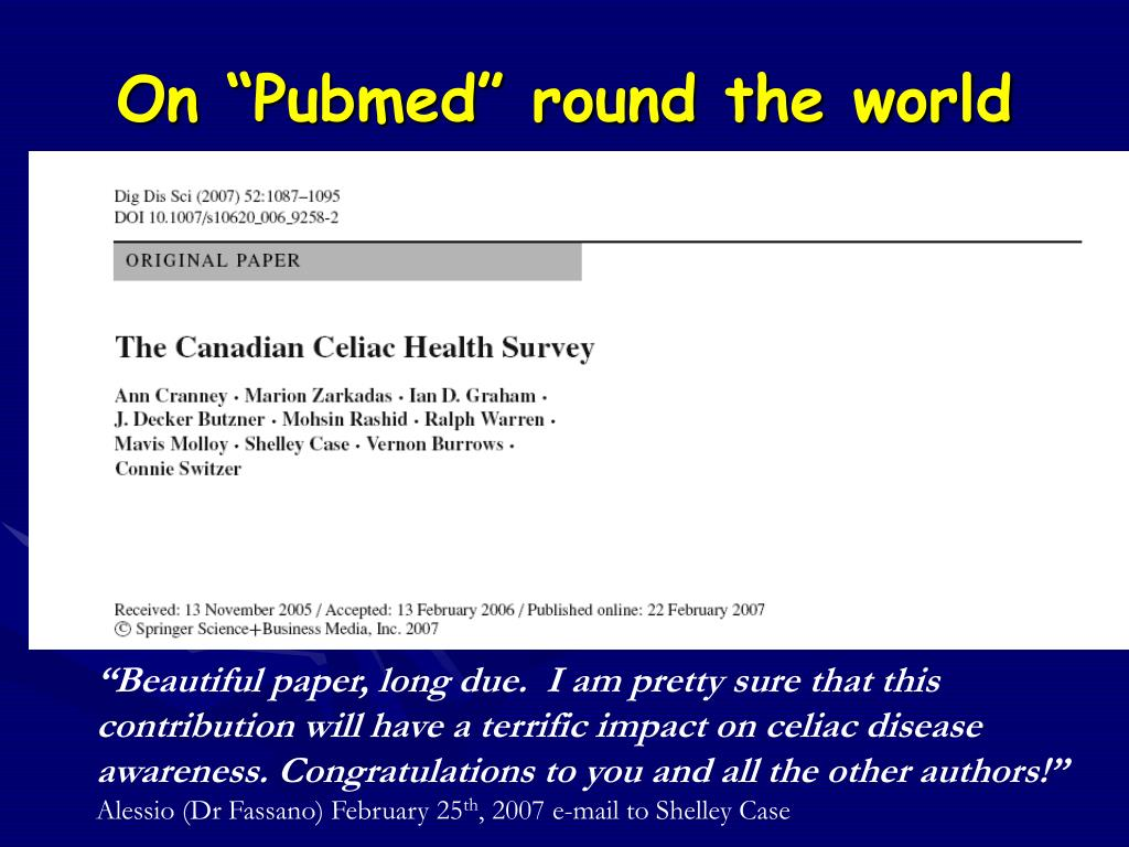"On ""Pubmed"" round the world"