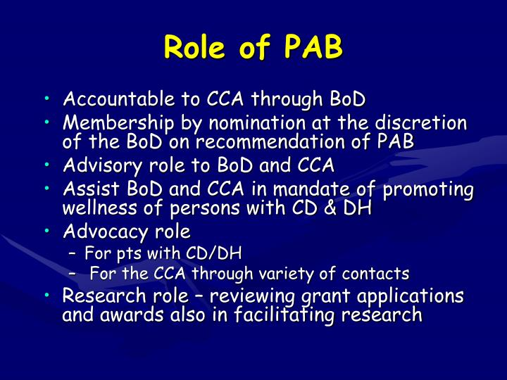 Role of pab