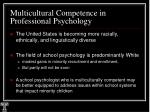 multicultural competence in professional psychology5