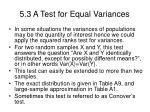 5 3 a test for equal variances