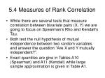 5 4 measures of rank correlation