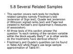 5 8 several related samples