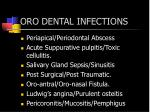 oro dental infections