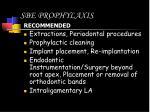 sbe prophylaxis