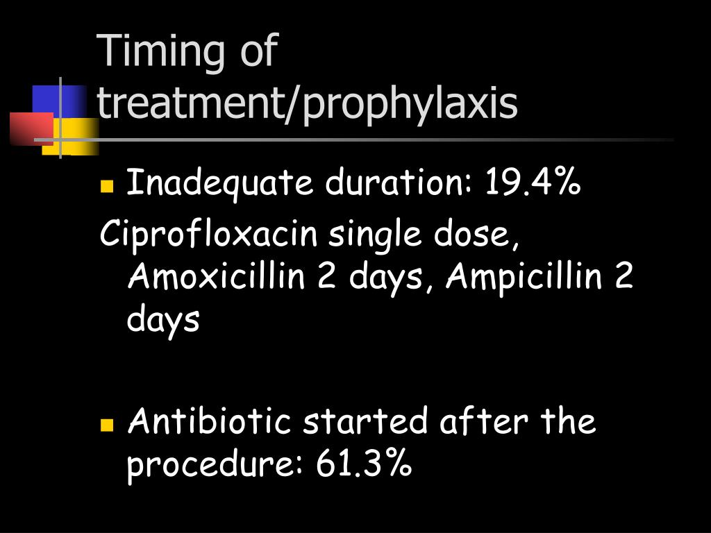 Timing of treatment/prophylaxis