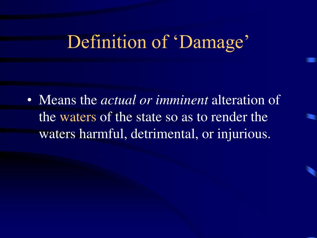 Definition of 'Damage'