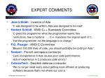 expert comments