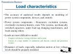 load characteristics