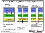 current dual core chip multiprocessor cmp architectures