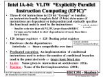 intel ia 64 vliw explicitly parallel instruction computing epic