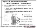 superscalar architecture limitations