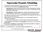 superscalar dynamic scheduling16