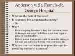 anderson v st francis st george hospital