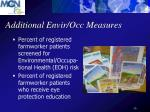 additional envir occ measures