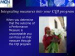 integrating measures into your cqi program