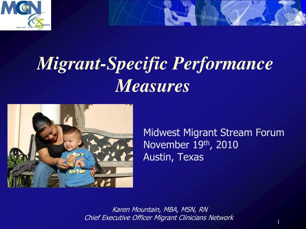 migrant specific performance measures l.