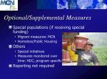 optional supplemental measures