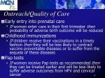 outreach quality of care