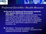 preferred envir occ health measure