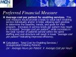 preferred financial measure