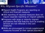why migrant specific measures