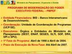 programa de moderniza o do poder executivo federal pmpef