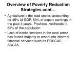 overview of poverty reduction strategies cont