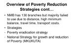 overview of poverty reduction strategies cont9