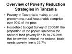 overview of poverty reduction strategies in tanzania