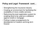 policy and legal framework cont14