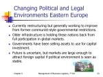 changing political and legal environments eastern europe