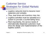 customer service strategies for global markets