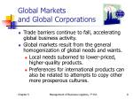 global markets and global corporations