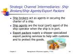 strategic channel intermediaries ship brokers ship agents export packers