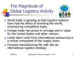 the magnitude of global logistics activity