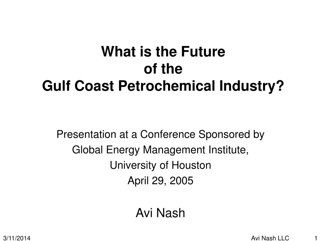 what is the future of the gulf coast petrochemical industry l.