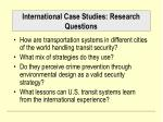 international case studies research questions