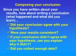 composing your conclusion