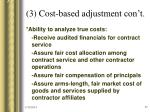3 cost based adjustment con t27