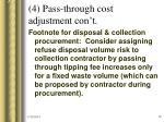 4 pass through cost adjustment con t