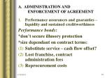 a administration and enforcement of agreement
