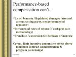 performance based compensation con t