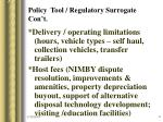 policy tool regulatory surrogate con t