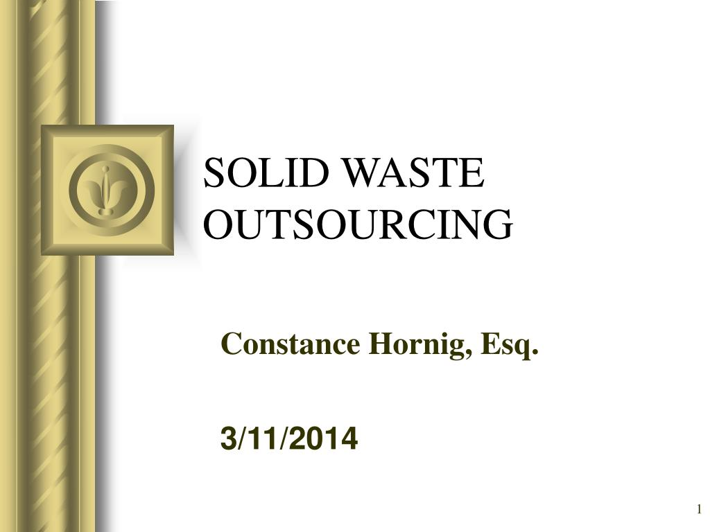 solid waste outsourcing l.